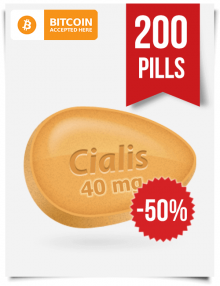 Cialis 40 mg 200 Pills Online