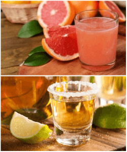 Alcohol and grapefruit juice